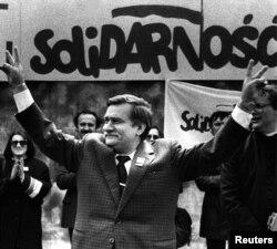 Lech Walesa în 1989