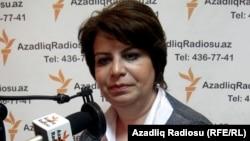 Әзербайжан парламентінің депутаты Гүләр Ахмедова. 2011 жылдың сәуірі.