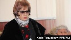 Гульжан Ергалиева, главный редактор журнала ADAM bol, на заседании апелляционной коллегии в Алматинском городском суде. Алматы, 5 февраля 2015 года.
