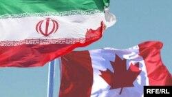 Iran/Czech Republic -- Iran Canada combo flags (flag), unadated