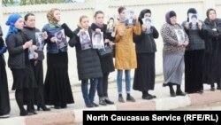Митинг матерей похищенных в Хасавюрте