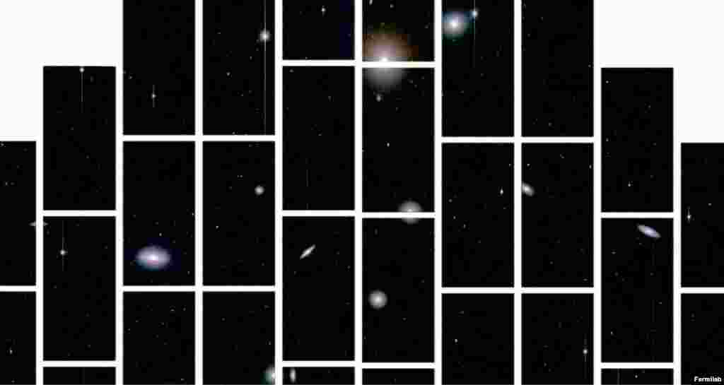 This is one of the first images recorded by the Dark Energy Camera.