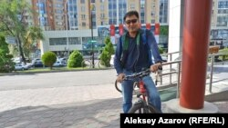Блогер и PR-специалист Куат Домбай. Алматы, 31 мая 2018 года.