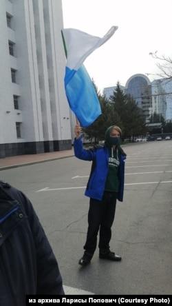 Павел Попович на акции в поддержку Фургала, 10 октября 2020 года, Хабаровск