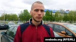 Belarus - Youth Front member Zmitser Kramyanetski in Frunzenski court of Minsk, 6May2014