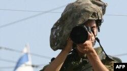 Израелски војник во Хеброн.