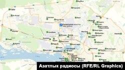 """Казан харитасында """"Рәхматулла"""" мәчетен төзү урыны"""