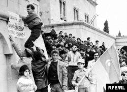 Ermənilərin Qarabağa iddialarına qarşı Bakının Azadlıq meydanında keçirilən mitinqlər, 80-ci illərin sonu