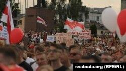 Акцыя пратэсту ў Горадні 18 жніўня