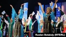 Қазақстан халқы ассамбелясы жылының ашылуы. Астана, 6 ақпан 2015 жыл (Көрнекі сурет).