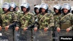 Armenia -- Riot police.