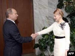 Володимир Путін та Юлія Тимошенко. Москва, квітень 2009 року