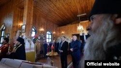 A. Lukașenka și P. Poroșenko la ceremonia de la Laskavicy, în zona Chernobîl