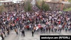Митинг движения «Я против» в Ереване, 12 апреля 2014 г.