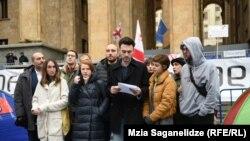 Протестующие у здания парламента Грузии