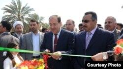 رئيس الوزراء نوري المالكي يفتتح المجسر