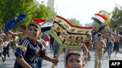 بغداد تحتفل بفوز العراق بكأس اسيا في تموز 2007