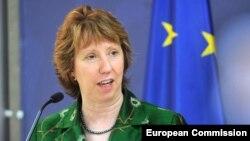 Еуропа Одағының сыртқы саясат жөніндегі комиссары Кэтрин Эштон. Белград, 28 сәуір 2014 жыл.