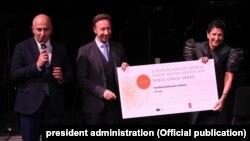 Премию Europa Nostra вручили в Париже президенту Грузии Саломе Зурабишвили