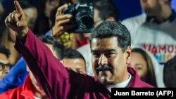 Վենեսուելայի վերընտրված նախագահ Նիկոլաս Մադուրոն, Կարակաս, 20-ը մայիսի, 2018 թ.