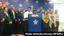 Zoran Zaev na konferenciji za medije 15. februara