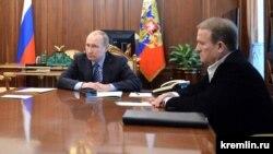 Володимир Путін (л) і Віктор Медведчук (п), Кремль, Москва, 25 травня 2016 року
