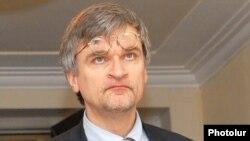 Armenia -- Peter Semneby, the EU special representative to the South Caucasus, visits Yerevan, undated.