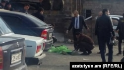 Armenia- One of three men shot dead outside the Nubarashen Prison in Yerevan, 4Mar2015.