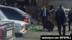Armenia- One of three men shot dead outside the Nubarashen Prison in Yerevan, 4Mar2015.