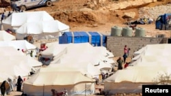 Syrian refugees in the Lebanese border town of Arsal. (file photo)