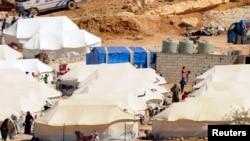 خيم لاجئين سوريين في عرسال