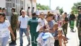 Kazakhstan - Arys explosion - Thousands evacuated from Arys to Shymkent. Turkestan region, 24Jun2019.