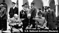 Ялтинская конференция руководителей стран-союзников.