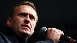 Алексей Навальный на митинге в поддержку политзаключенных. 2019 год