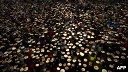 Море свечей в память о жертвах разбившегося ТУ154.