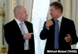 Евгений Пригожин и Алексей Миллер