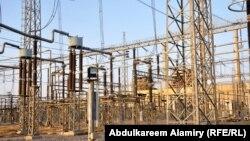 جانب من محطة كهرباء الهارثة في البصرة