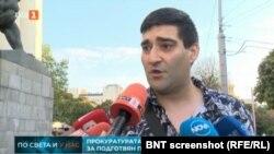 Йордан Бонев дава изявление пред националните телевизии. Изключение е бТВ