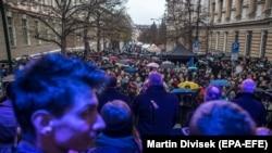 Obilježavanje slavnih čeških godišnjica u petak u Pragu, 17. novembra 2017.