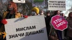 Протест против загадувањето - Скопје стана како Пекинг