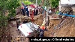 Последствия наводнения, Ялта, 24 июня 2021 года