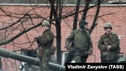 Sovjetski vojnici u Vilnjusu, januar 1991.