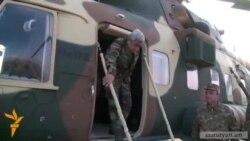 Sarkisian helikopterlə Qarabağa gəlib