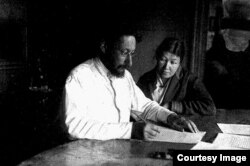 Супруги Павел и Анна Флоренские