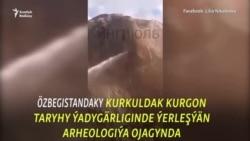 Özbek arheologiýa ýadygärliginde gadymy sungat işleri weýran edildi