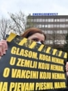 Bosnia and Herzegovina, Sarajevo, Protest in front of of the building of the Government of the Federation of Bosnia and Herzegovina, due to lack of COVID-19 vaccines and the general negligence of the authorities due to the coronavirus, in Sarajevo