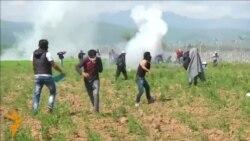 Стотици повредени мигранти на границата со Грција