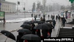 Minskdə səssiz etiraz