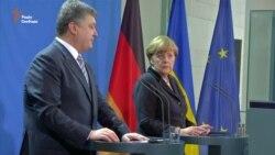 Порошенко та Меркель: санкції проти Росії мають тривати (відео)