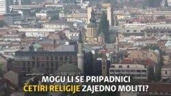 Zajednička molitva četiri religije u Sarajevu